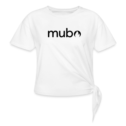 mubo Logo Word Black - Women's Knotted T-Shirt