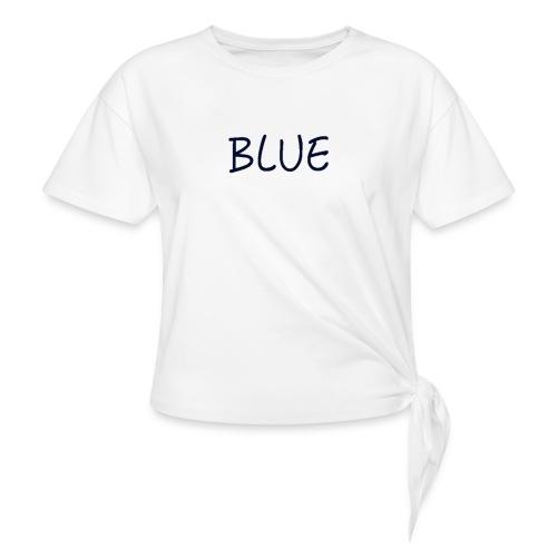 BLUE - Geknoopt shirt