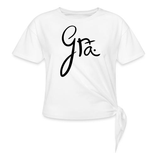 logo-trans-ai - Vrouwen Geknoopt shirt