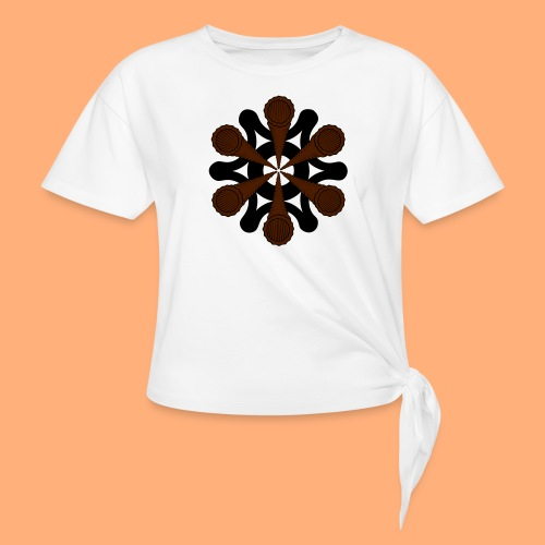 vortex - T-shirt à nœud Femme
