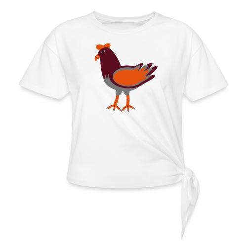 Cock.svg - Maglietta annodata da donna