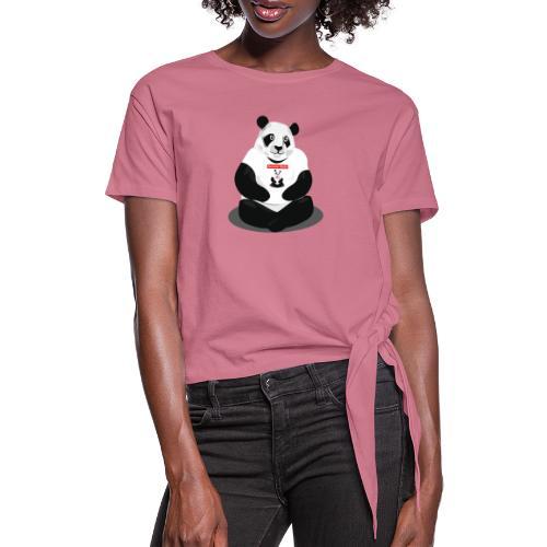 panda hd - T-shirt à nœud Femme