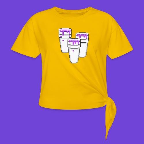 Purple - Maglietta annodata da donna