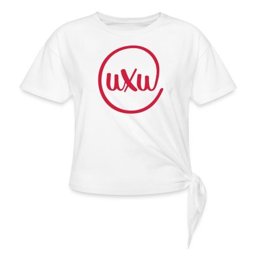 UXU logo round - Women's Knotted T-Shirt