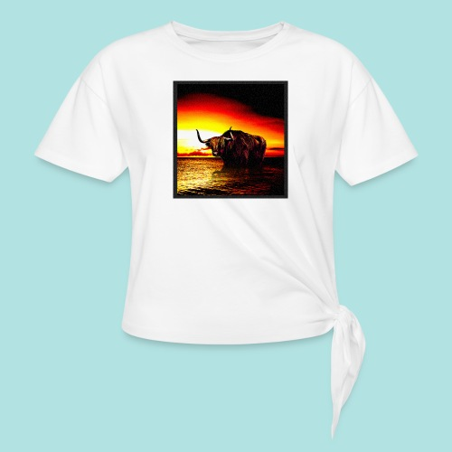 Wandering_Bull - Women's Knotted T-Shirt