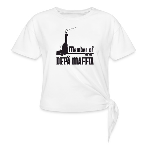 Depå Maffia svart tryck - T-shirt med knut