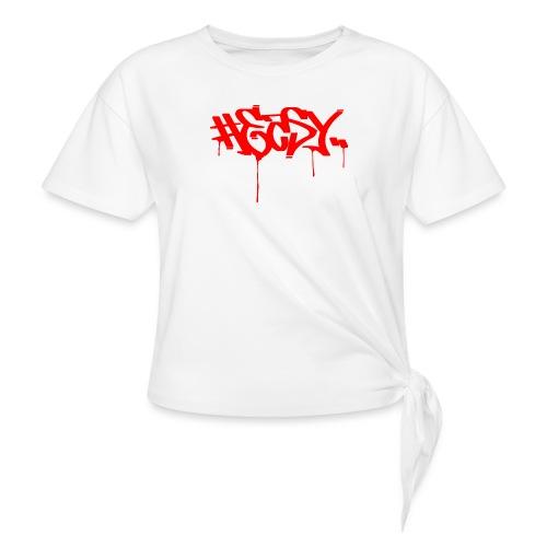 #EASY Graffiti Logo T-Shirt - Maglietta annodata