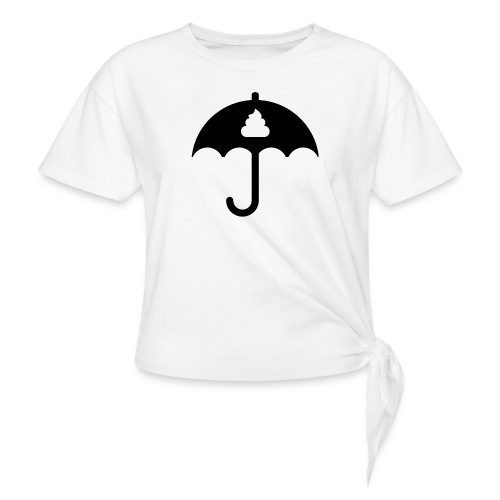Shit icon Black png - Women's Knotted T-Shirt