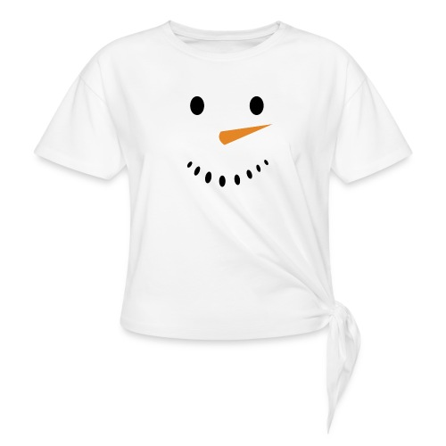 Bonhomme de neige Noël Hiver - T-shirt à nœud Femme
