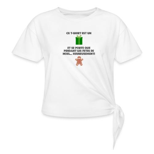 T-shirt cadeau de Noël - T-shirt à nœud Femme