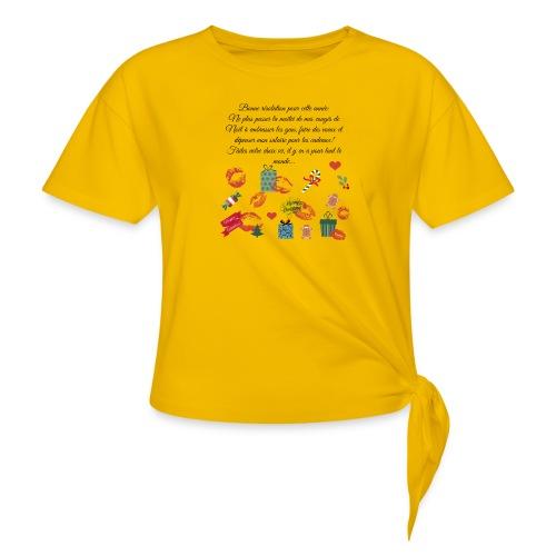 Bonne resolution Noël Nouvel An - T-shirt à nœud Femme