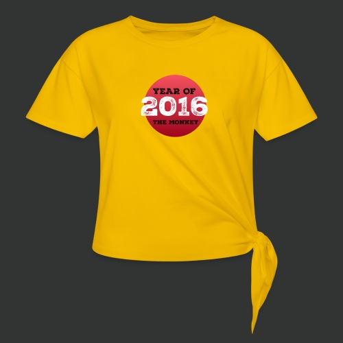 2016 year of the monkey - Knotted T-Shirt