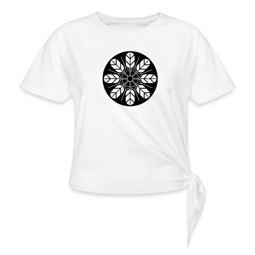 Inoue clan kamon in black - Women's Knotted T-Shirt