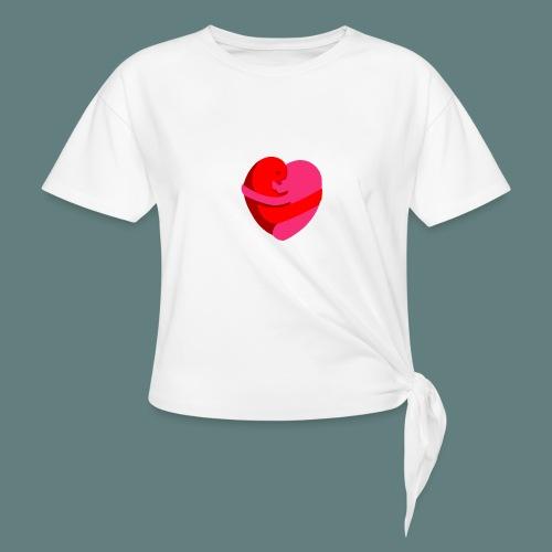 hearts hug - Maglietta annodata da donna