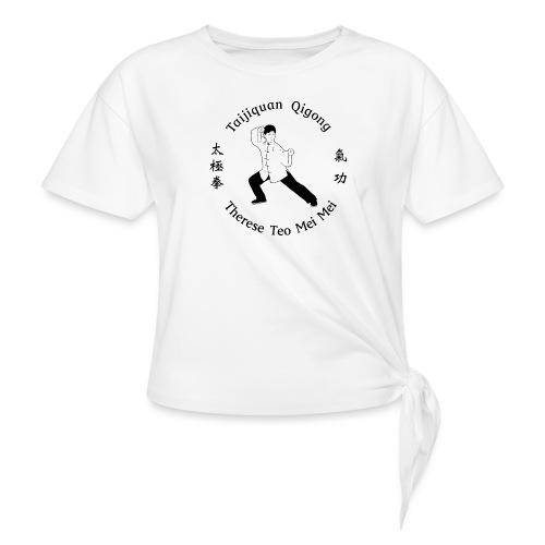 Teo Mei Mei Black Logo - T-shirt med knut dam