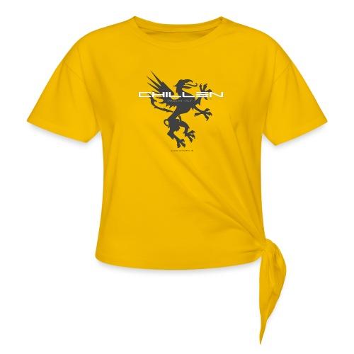 Chillen-1-dark - Women's Knotted T-Shirt