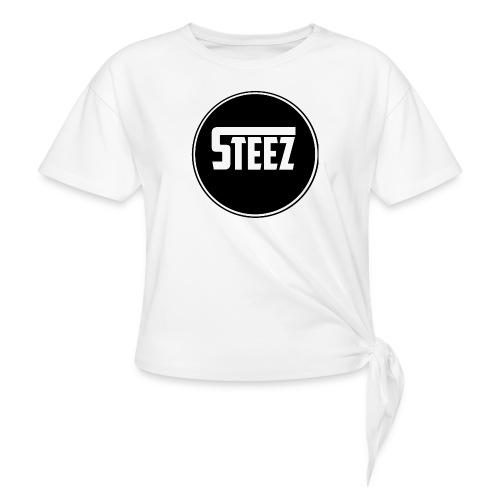Steez t-Shirt black - Vrouwen Geknoopt shirt