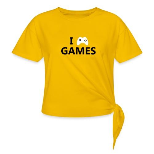 I Love Games - Camiseta con nudo