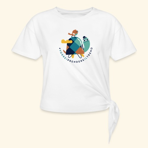 Tartaruga e uccellino - Maglietta annodata