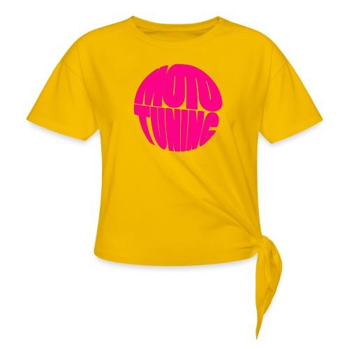MotoTuning Pink - Women's Knotted T-Shirt