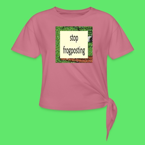 Frogposter - Women's Knotted T-Shirt