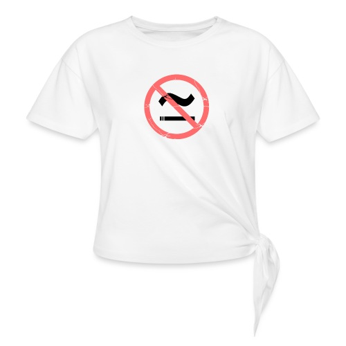 The Commercial NO SMOKING (Salmon) - Women's Knotted T-Shirt