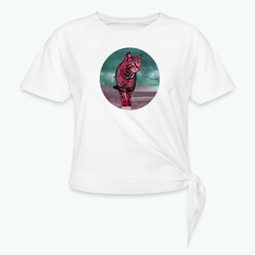 Chat sauvage - T-shirt à nœud