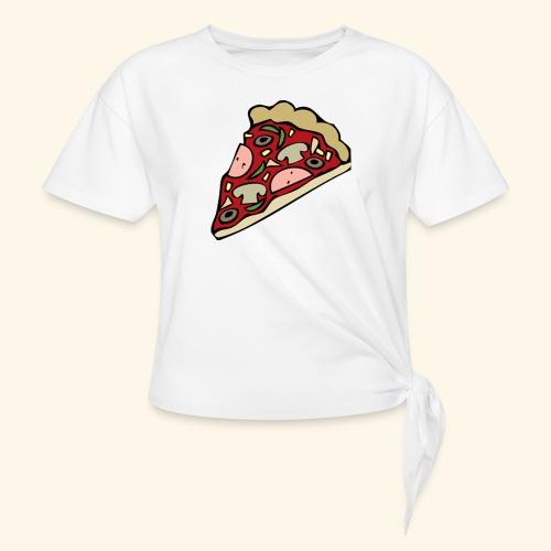Pizza - T-shirt à nœud Femme