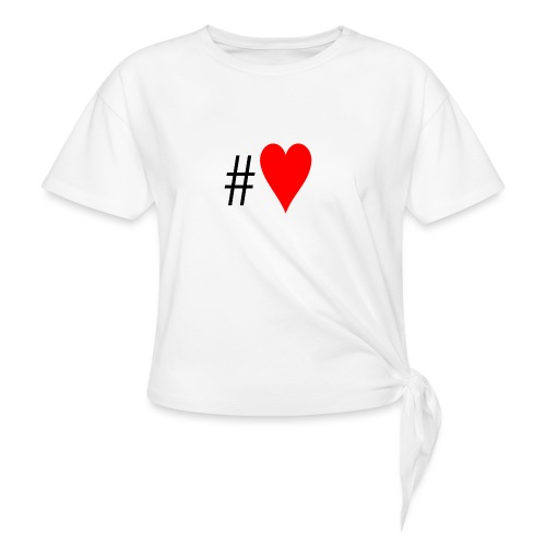 Hashtag Heart - Women's Knotted T-Shirt