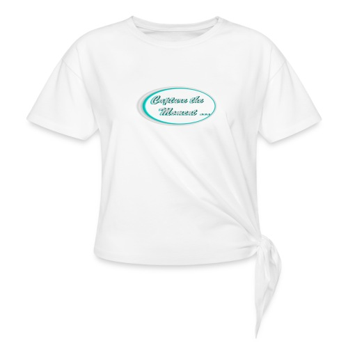 Logo capture the moment photography slogan - Knotted T-Shirt