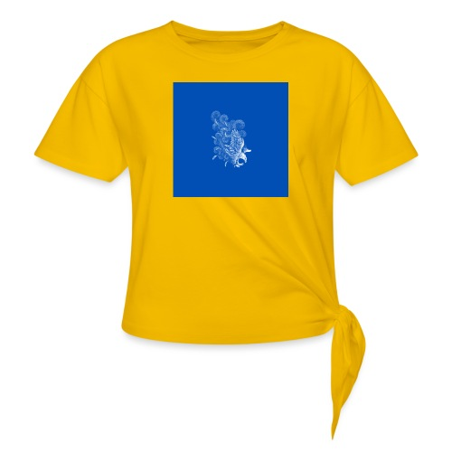 Windy Wings Blue - Knotted T-Shirt