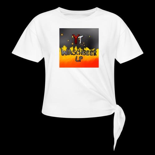 Waschbeer Design 2# Mit Flammen - Knotenshirt