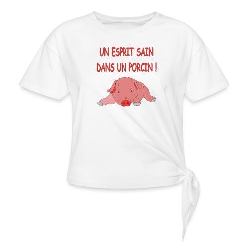 Porcitive Attitude - T-shirt à nœud Femme