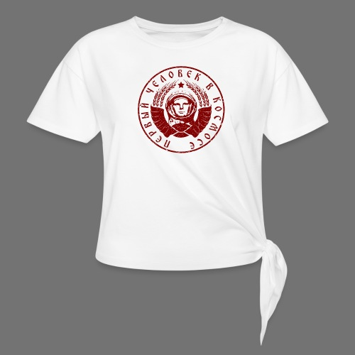 Cosmonaut 1c red (oldstyle) - Knotted T-Shirt