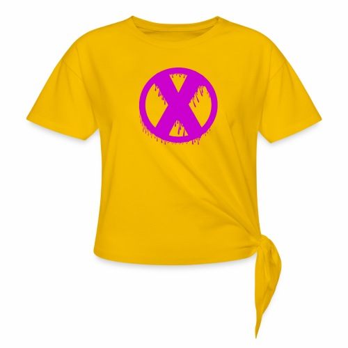 X - T-shirt à nœud Femme