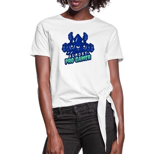 Almost pro gamer BLUE - Maglietta annodata da donna