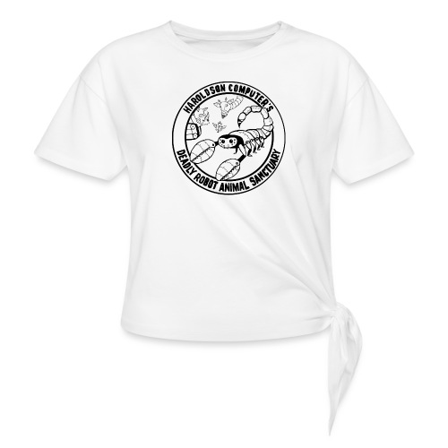 Haroldson Computer's Deadly Robot Animal Sanctuary - Knotted T-Shirt