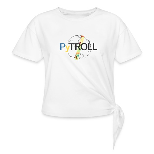light logo spectral - Women's Knotted T-Shirt