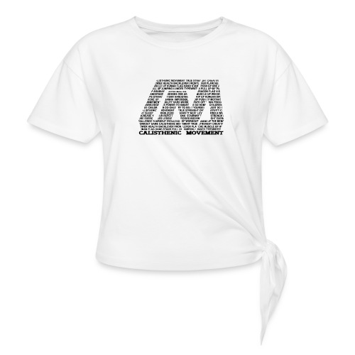 CM Logo aus Text schwarz - Frauen Knotenshirt