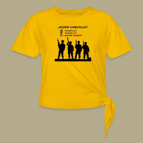 Skirm Checklist - Vrouwen Geknoopt shirt