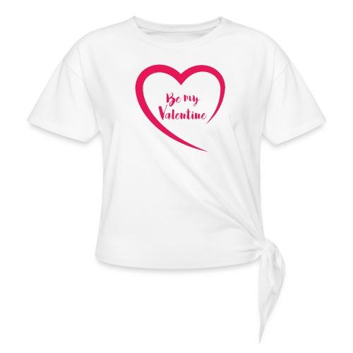 Be my Valentine - T-shirt à nœud Femme