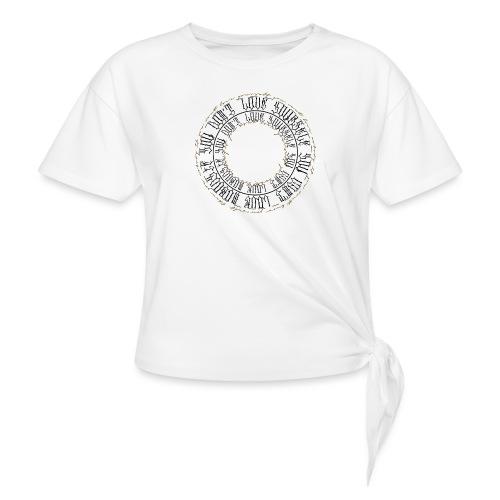 CALLIGRAPHY-CIRCLE - Maglietta annodata