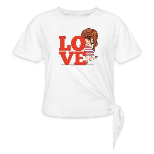 Love gamine - T-shirt à nœud Femme