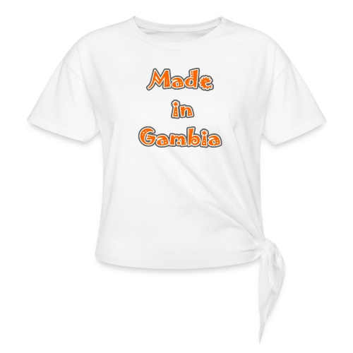 Made in Gambia - Women's Knotted T-Shirt