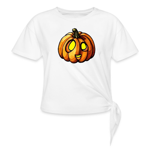 Pumpkin Halloween watercolor scribblesirii - Knot-shirt