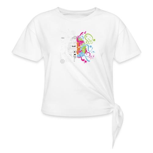 Cerebro ilustracion - Camiseta con nudo
