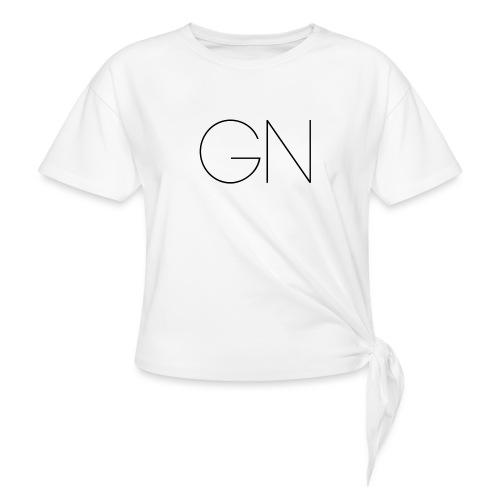 Långärmad tröja GN slim text - T-shirt med knut