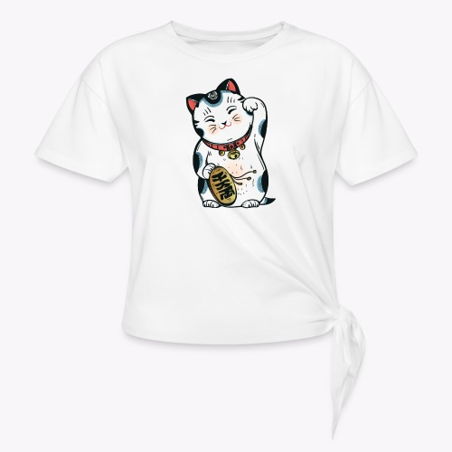 The Lucky Cat - Women's Knotted T-Shirt