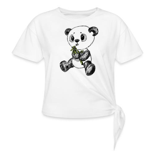 Panda bjørn farvet scribblesirii - Knot-shirt