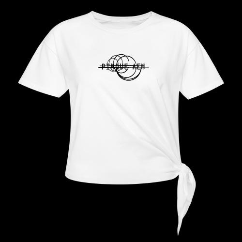 Pinque AEM NERO - Maglietta annodata da donna